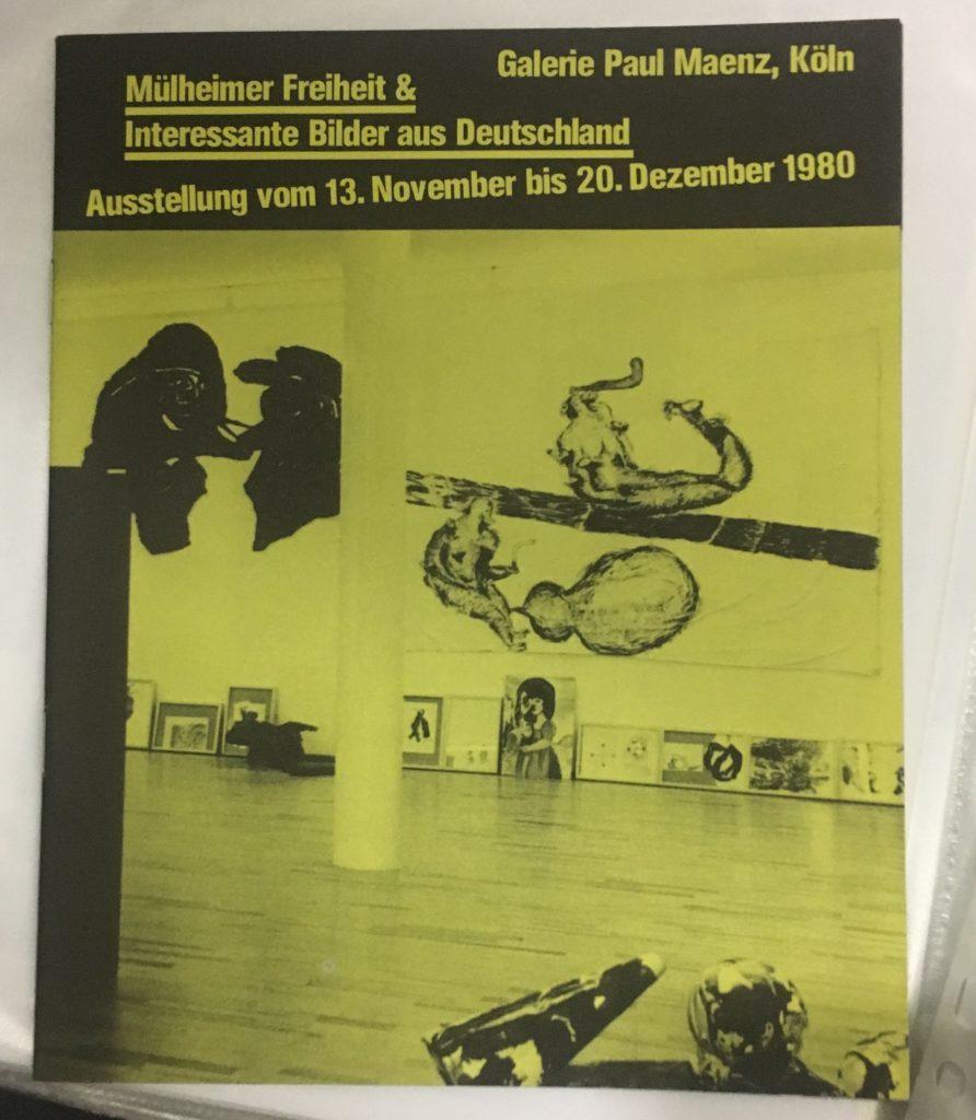 """""""Mülheimer Freiheit & Interessante Bilder aus Deutschland"""", Paul Maenz, Cologne, 1980 (Catalogue) Archiv der Avantgarden, Staatliche Kunstsammlungen Dresden"""
