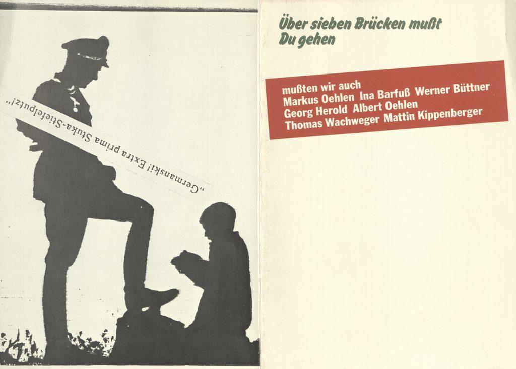 Über Sieben Brücken musst du gehen, mussten wir auch, Sammlung Dr. Stober, 1982 (Invitation) Archiv der Avantgarden, Staatliche Kunstsammlungen Dresden