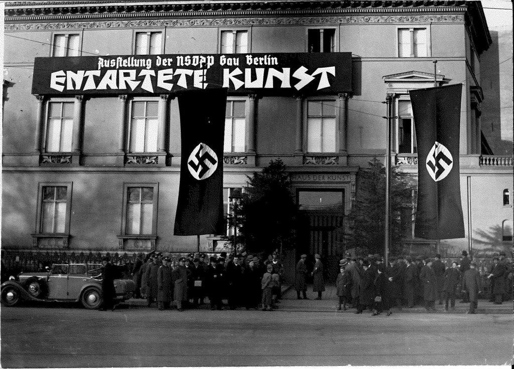"""Photographs """"Das Haus der Kunst"""", Berlin 26.2.1938, opening of """"Entartete Kunst"""". Photograph © Dr. Alfred Hentzen © SKD"""