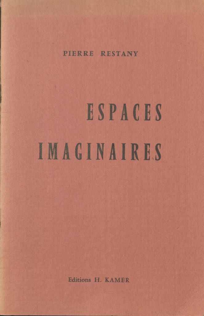 """Espaces Imaginaires"" (Catalogue) by Pierre Restany, Galerie H. Kamer, Paris 1957 © SKD"