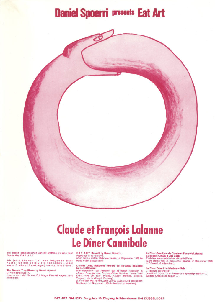 "Claude et François Lalanne, Invitation, ""Le Dîner Cannibale"", Eat Art Gallery by Daniel Spoerri, Düsseldorf 1970 © SKD"