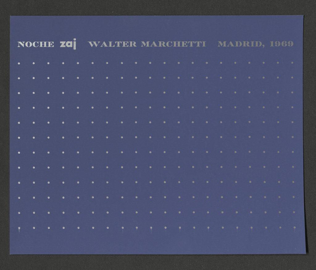 """""""NOCHE"""", WALTER MARCHETTI, ZAJ, MADRID, 1968"""