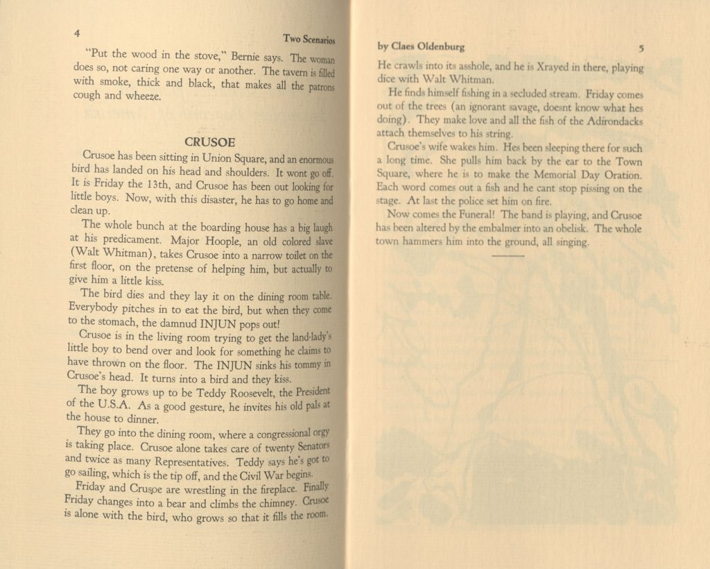 INJUN & OTHER HISTORIES, Claes Oldenburg, Booklet published by A Great Bear Pamphlet, New York; Archiv der Avantgarden, Staatliche Kunstsammlungen Dresden © Claes Oldenburg