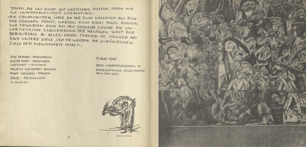 """""""S.P.U.R. MANIFEST"""", by Guy Debord, Asger Jorn, Constant, Pinot Gallazio, Maurice Wyckaert,(Booklet) 17.05.1960, Archiv der Avantgarden, Staatliche Kunstsammlungen Dresden"""