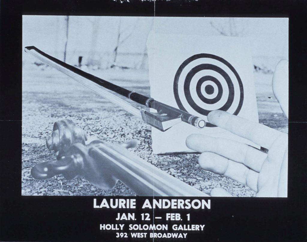 Laurie Anderson, Holly Solomon Gallery, New York, 1977 (Invitation); Sammlung Marzona, Kunstbibliothek – Staatliche Museen zu Berlin