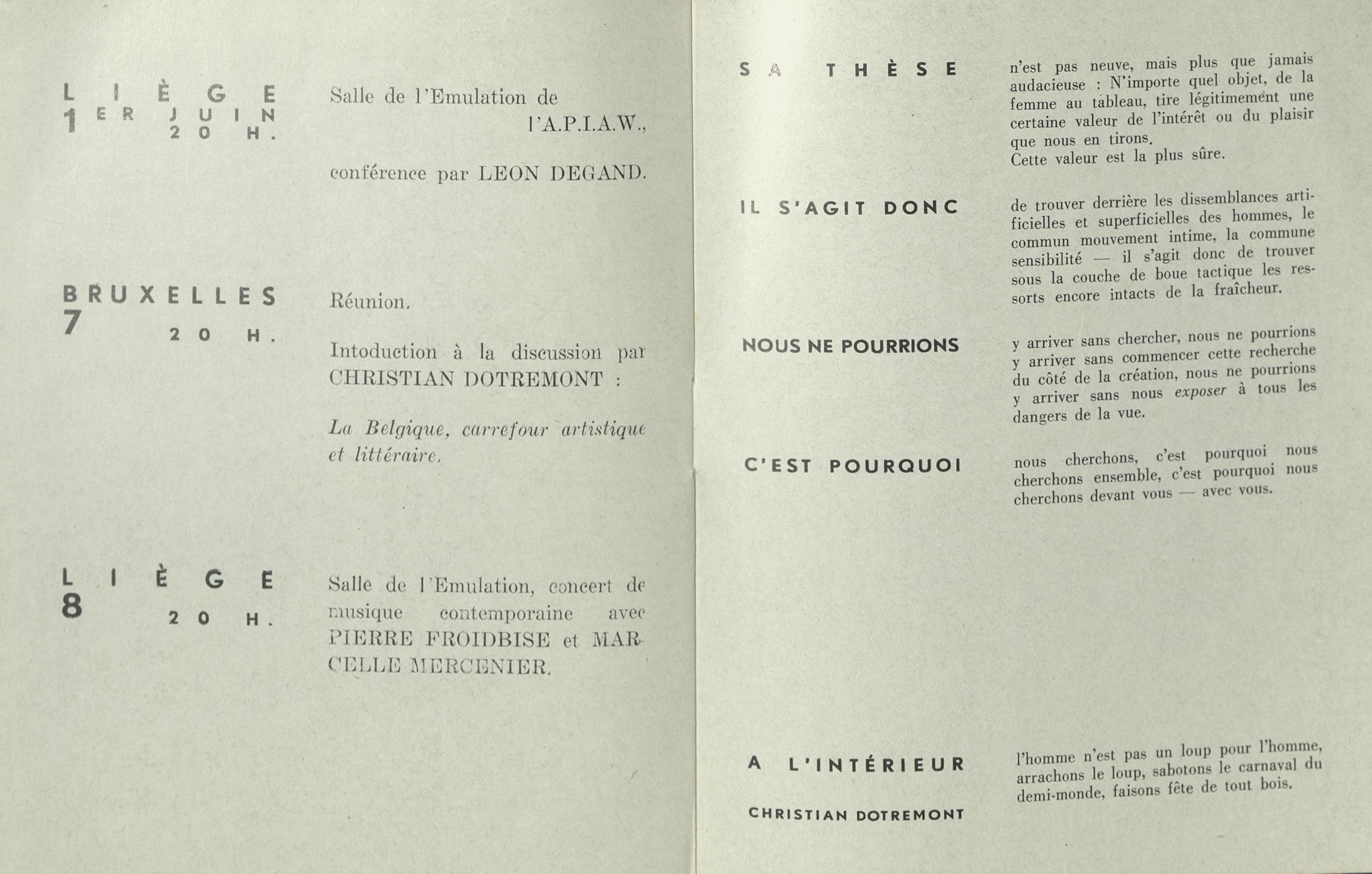 COBRA, La Louvière Liège et Bruxelles, 1950; Archiv der Avantgarden, Staatliche Kunstsammlungen Dresden