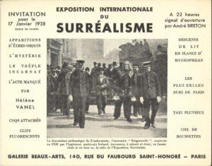 """""""Exposition Internationale du Surréalisme, Galerie Beaux Arts, Paris, 1938, (Invitation) Archiv der Avantgarden, Staatliche Kunstsammlungen Dresden"""