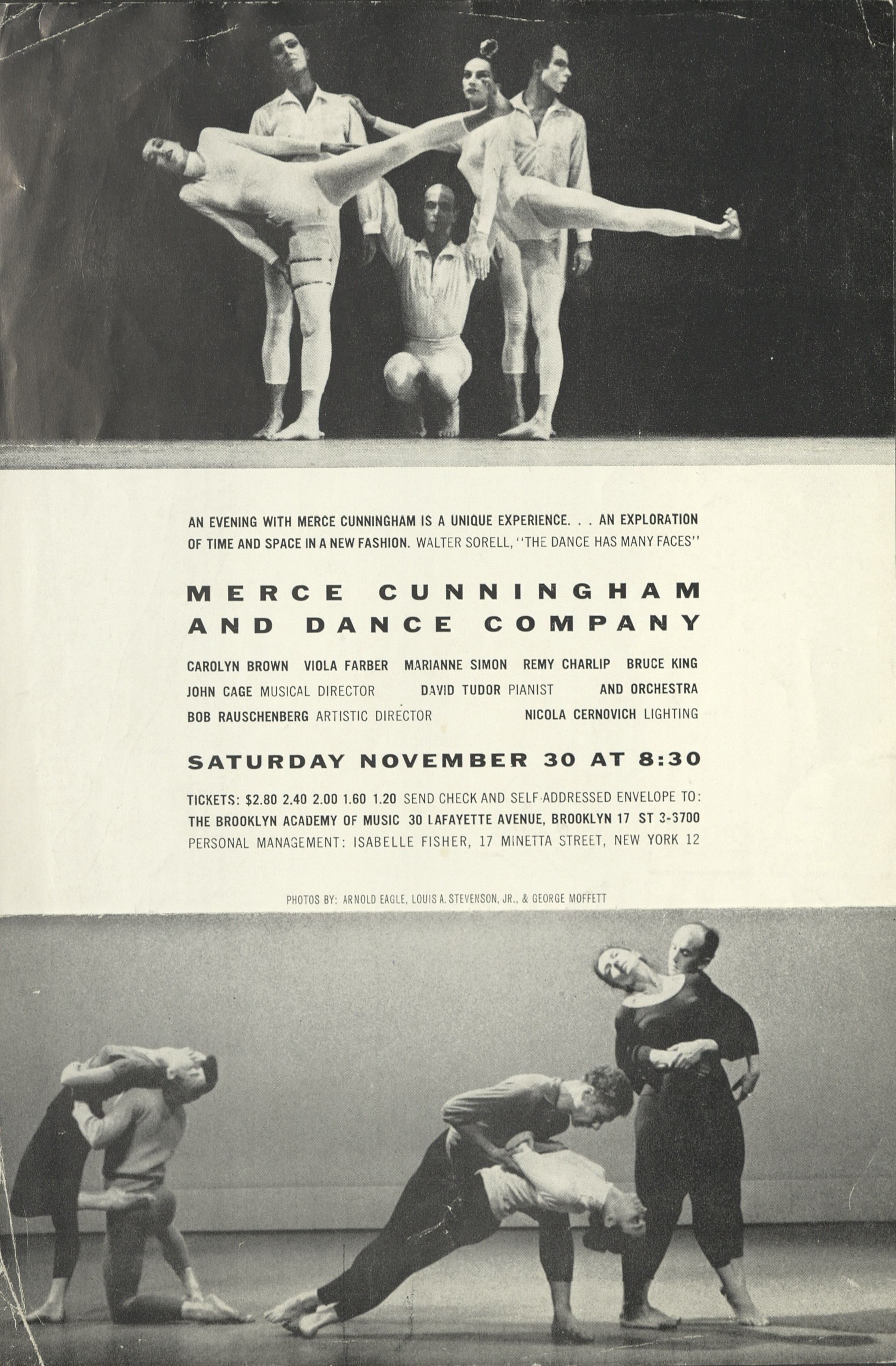 Merce Cunningham and Dance Company, The Brooklyn Academy of Music, New York, 1957; Archiv der Avantgarden, Staatliche Kunstsammlungen Dresden
