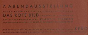 7. Abendausstellung der Gruppe ZERO, Düsseldorf 1958 (Invitation); Archiv der Avantgarden, Staatliche Kunstsammlungen Dresden