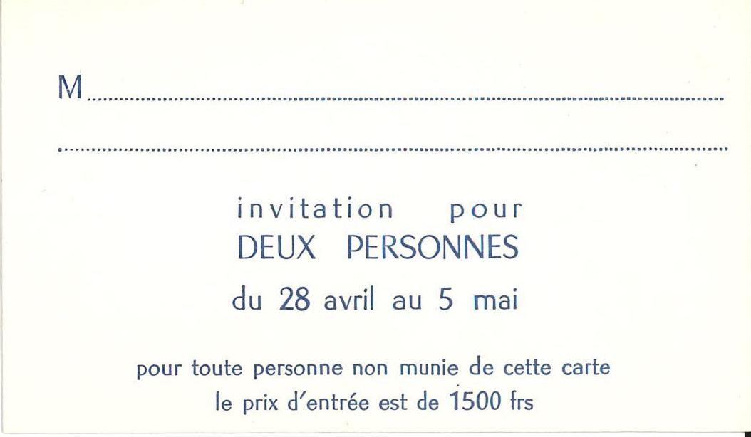 Yves Klein, Iris Clert, Paris, 1958 (Invitation); Archiv der Avantgarden, Staatliche Kunstsammlungen Dresden