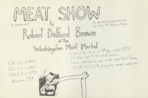 "Delford Brown, ""The Meat Show"", An Environment, 1964 (Invitation); Archiv der Avantgarden, Staatliche Kunstsammlungen Dresden"
