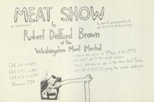 """Delford Brown, """"The Meat Show"""", An Environment, 1964 (Invitation); Archiv der Avantgarden, Staatliche Kunstsammlungen Dresden"""