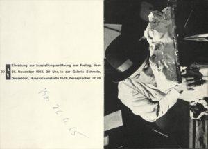 Joseph Beuys, Galerie Schmela, Düsseldorf, 1965 (Invitation); Archiv der Avantgarden, Staatliche Kunstsammlungen Dresden © VG Bild-Kunst, Bonn