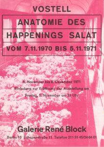 """Wolf Vostell """"Anatomie des Happenings Salat"""", Galerie René Block, Berlin 1971 (Invitation); Archiv der Avantgarden, Staatliche Kunstsammlungen Dresden © VG Bild-Kunst, Bonn"""