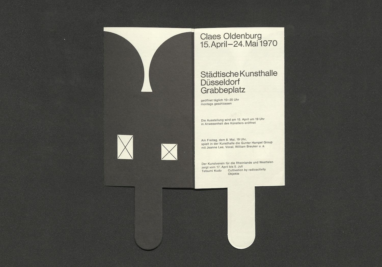 Claes Oldenburg, Städtische Kunsthalle Düsseldorf, 1970 (Invitation); Archiv der Avantgarden, Staatliche Kunstsammlungen Dresden