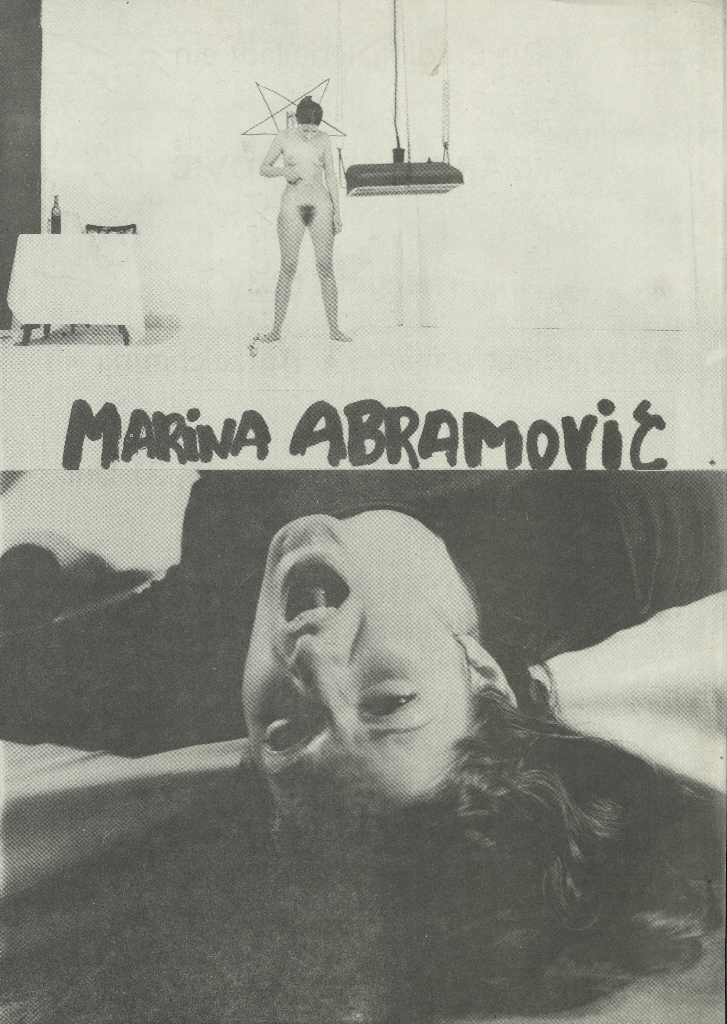 FREEING THE BODY, Marina Abramović , Künstlerhaus Bethanien Berlin, 1976 (Invitation); Archiv der Avantgarden, Staatliche Kunstsammlungen Dresden © VG Bild-Kunst, Bonn