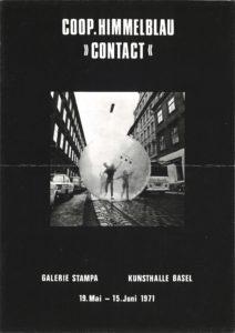 """Galerie Stampa / Kunsthalle Basel, Coop Himmelb(l)au """"Contact"""", 1971 (Announcement); Archiv der Avantgarden, Staatliche Kunstsammlungen Dresden"""