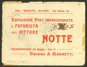 Emilio Notte, DISEGNO A MATITA, Milano 1919 (Invitations Card with Original Drawing) © Emilio Notte