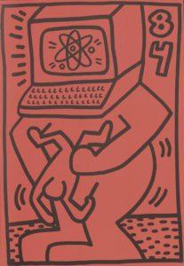 Keith Haring, Galerie Paul Maenz, Cologne 1984 (Invitation) © Keith Haring; Archiv der Avantgarden, Staatliche Kunstsammlungen Dresden