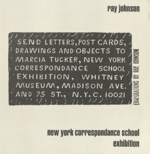 Ray Johnson, NEW YORK CORRESPONDANCE SCHOOL, Whitney Museum of Art, New York 1970 (Invitation) Archiv der Avantgarden, Staatliche Kunstsammlungen Dresden