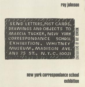 Ray Johnson, NEW YORK CORRESPONDANCE SCHOOL, Whitney Museum of Art, New York 1970 (Invitation) Archiv der Avantgarden, Staatliche Kunstsammlungen Dresden