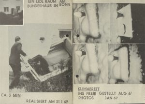 LIDLAKADEMIE, Jörg Immendorf & Chris Reinecke, Kombinat 1, Cologne 1969 (Invitation); Archiv der Avantgarden, Staatliche Kunstsammlungen Dresden