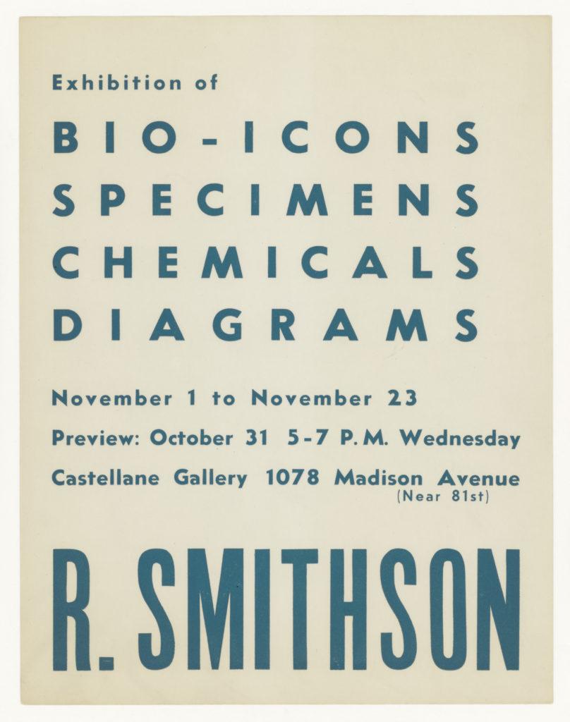 Robert Smithson, Castellane Gallery, New York, 1962 (Invitation); Sammlung Marzona, Kunstbibliothek – Staatliche Museen zu Berlin; VG Bild-Kunst, Bonn