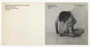 Vito Acconci, Nova Scotia College of Art and Design, Halifax 1970 (invitation); Sammlung Marzona, Kunstbibliothek – Staatliche Museen zu Berlin