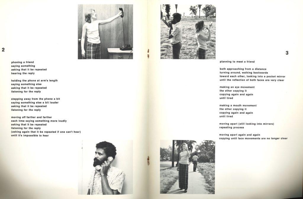"""Allan Kaprow, """"ROUTINE"""" 1975 (Catalogue); Archiv der Avantgarden, Staatliche Kunstsammlungen Dresden."""
